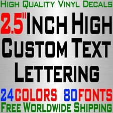 "Personalized 2.5"" Custom Text Name Vinyl Decal Sticker Car Wall 16x Lettering"
