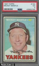 1967 Topps #150 Mickey Mantle New York Yankees HOF PSA 3 VG