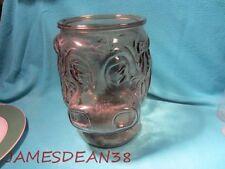 GLASS HIPPOPOTAMUS JAR COOKIES NO LID 70S