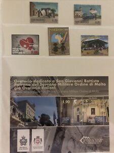 San Marino 2013 foglietto Francobolli Giovanni Battista Oratorio Malawi Malta