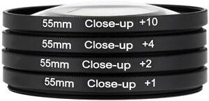 49 55 62 72 77mm Close-Up Filters Macro Lens Set(+1,2,4,10) Digital SLR Camera