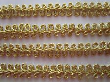 Borte Spitze Nichtelastisch  Gold Magenta Cream  2,3cm breit # BB 662 s