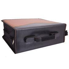 400-Leaf Large Capacity PVC CD DVD Storage Bag Case Holder Brown & Black New