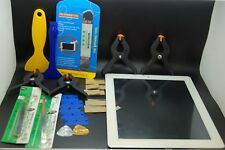 ipad 3 digitizer white replacement set & tools,home button &adhesive installed