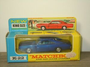 Dodge Charger - Matchbox King Size K-22 England in Box *53525