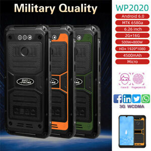 6.26 in WP2020 Waterproof Mobile Phone 2GB 16GB MTK6580 4500mAh Android OS 6.0