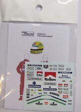 1/18 A. Senna Figure Decal McLaren for Minichamps