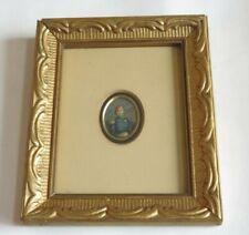 Art George Baxter Print Omar Pasha Miniature Genuine Antique (R284)