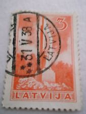 1937 Latvia Monuments 3 Orange Used Mi.198, Z44