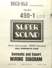 ROCK-OLA MODEL 490-1 & 494 ...  Domestic & Export FOLD-OUT WIRING DIAGRAM