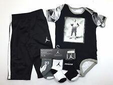 AIR JORDAN Baby Infant Newborn 5-PC Outfit Gift Set Bodysuit Pants Booties 9-12M