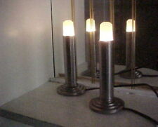 Pair (2) Art Deco 1930's Eveready Modernistic Skyscraper Electric Candle Lamps