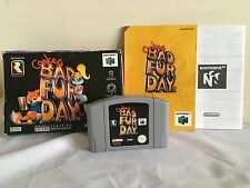 Conker's Bad Fur Day Nintendo 64 N64 Juego Completo Pal CONKERS ~ 1st Clase P&p