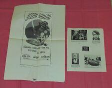 original STAR WARS PRESSBOOK PAGE & ADVERTISING AD SLICK lot