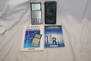 Casio fx-7000G Scientific Graphing Calculator w/Case, Manuals - Tested/Works!