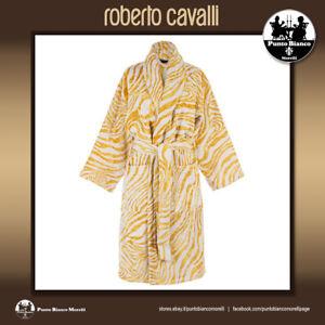 ROBERTO CAVALLI HOME   ZEB GOLD   Terry towelling shawl bath robe