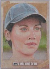 Walking Dead Season 7 Maggie Greene Sketch Card by Louise Draper *Free S/H*