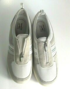 Get Fit By Grasshoppers Slip On Toning Sneakers. Pearl/White/Gray~Womens Size 8