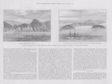 1886-ANTIQUE PRINT Australie Sandy Island Kermadec Isles Pacific (111 A)