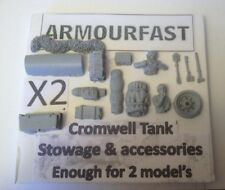 Early War 20mm (1/72) Armourfast British Cromwell Stowage Set (2 Vehicles)