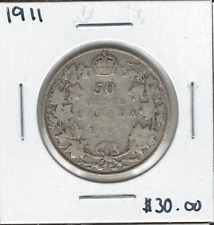 Canada 1911 50 Cent Silver Lot#2