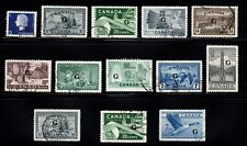 Lot Overprint Canada used  4 scans