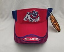 huge discount 5f690 432d1 Fresno State Bulldogs embroidered NCAA red   blue visor w  mesh back