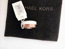 Michael Kors Rose Gold & White Colorblock Band Ring, Sz 6 NWT