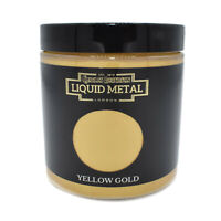 YELLOW GOLD LIQUID METAL METALLIC PAINT 250ml PAINTING LEAF GILDING CR78284H