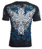 Archaic AFFLICTION Mens T-Shirt VISIONARY Cross Wings Biker MMA M-4XL $40