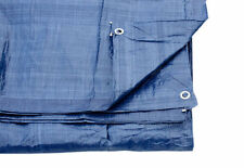 Blue Tarpaulin Cover Ground Sheet With Eyelets 2.7M X 3.5M 80 Gsm