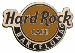 "Hard Rock Cafe BARCELONA 2018 Classic HRC Logo MAGNET 2.75"" x 2"" New CITY CORE"