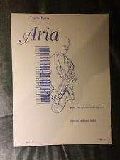 Eugène Bozza Aria pour saxophone alto et piano partition éditions Leduc