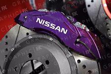 x6 Premium Nissan Logo Vinyl Brake Caliper Decals - Stickers