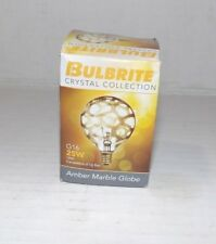 Bulbrite Crystal collection Amber marble globe 23G16/mar/E12