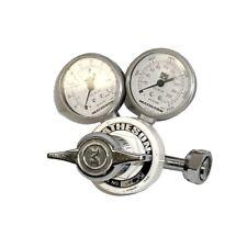 Matheson 14M-660 Gas Regulator Cylinder Control Valve w/63-3212 & 63-3233 Gauges