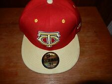 New Era Minnesota Twins 59Fifty Fitted Hat (Red/Yellow) Size 7 1/8
