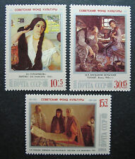 Russia 1988 B137-B139 MNH OG Russian Art Paintings Semi-Postal Set $2.55!!