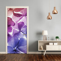 3D Wall Sticker Decoration Self Adhesive Door Wall Mural Flowers Violet flowers