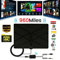 960 miglia 4K 1080P Digitale Antenna TV Interna Amplificata Potente HDTV DTT DVB