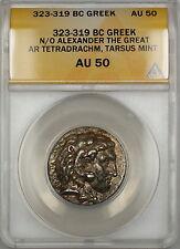 323-319 BC AR Tetradrachm Ancient Greek Coin Alexander the Great ANACS AU-50 SB