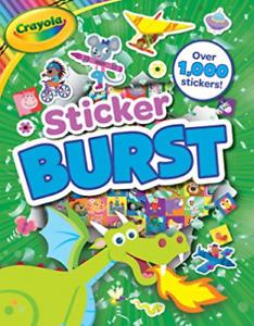 Lot of Crayola Sticker Burst Paperback Bag Fillers for Kids