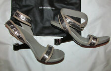 UNITED NUDE EAMZ heel strappy metallic studded ankle x strap shoes  9.5 10