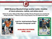 Topps 2020 Bowman Baseball Retail Value Box