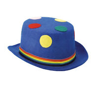 Blue Polka Dot Dots Clown Circus Multicolor Top Hat Adult Costume Accessory