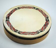 "16"" Diameter Pattern Irish Bodhran - Irish Drum Starter Pack with Beater"