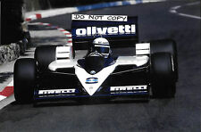 9x6 FOTOGRAFIA ELIO DE ANGELIS F1 BRABHAM-BMW BT55 Monaco GP 1986 finale RACE
