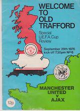 Programma / Programme Manchester United v Ajax Amsterdam 29-09-1976 UEFA Cup