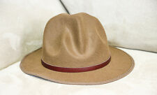Mountie Hat Genuine Brown Leather Band Wool Top Hat Premium Quality Party on!