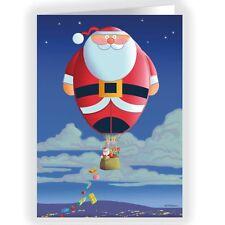 Santa Hot Air Balloon Christmas Card 18 cards & envelopes -20037